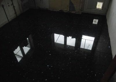 Black Granite Floor - Seaton