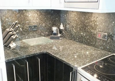 Black Granite Splashback