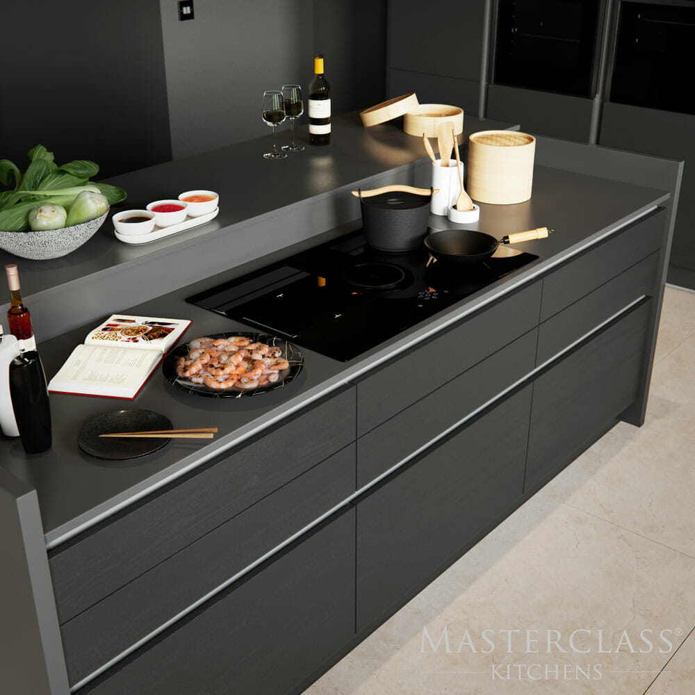 dark kitchen cabinet design