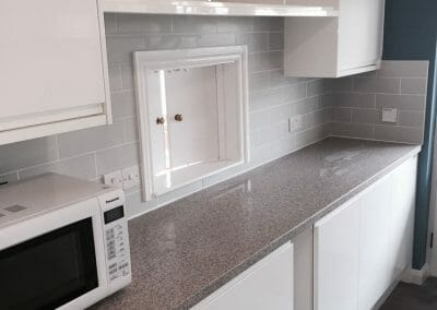 White Gloss Kitchen - Taunton