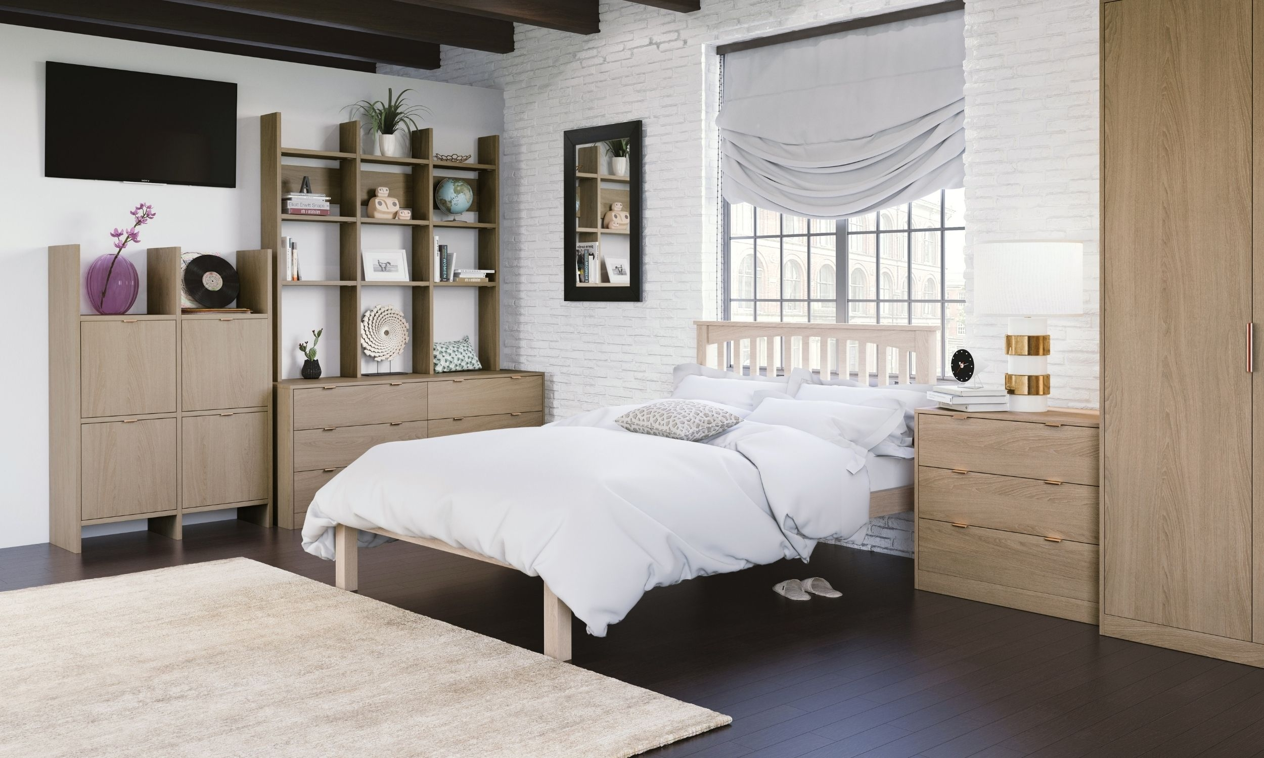 Traditional Bedroom With Wooden Finish