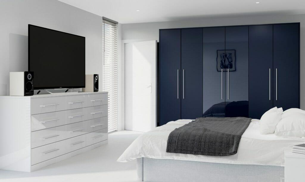 Contrasting Modern Bedroom