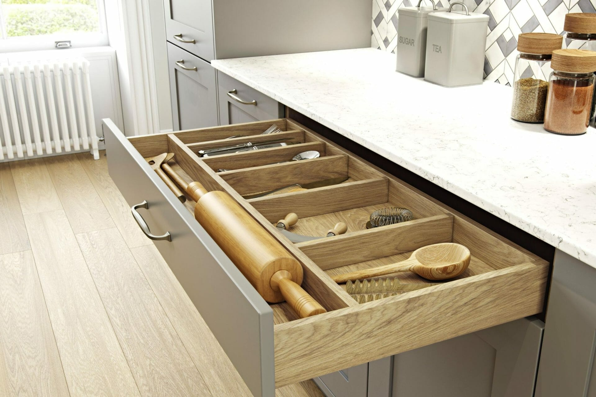Classic Kitchen Utensil Drawer
