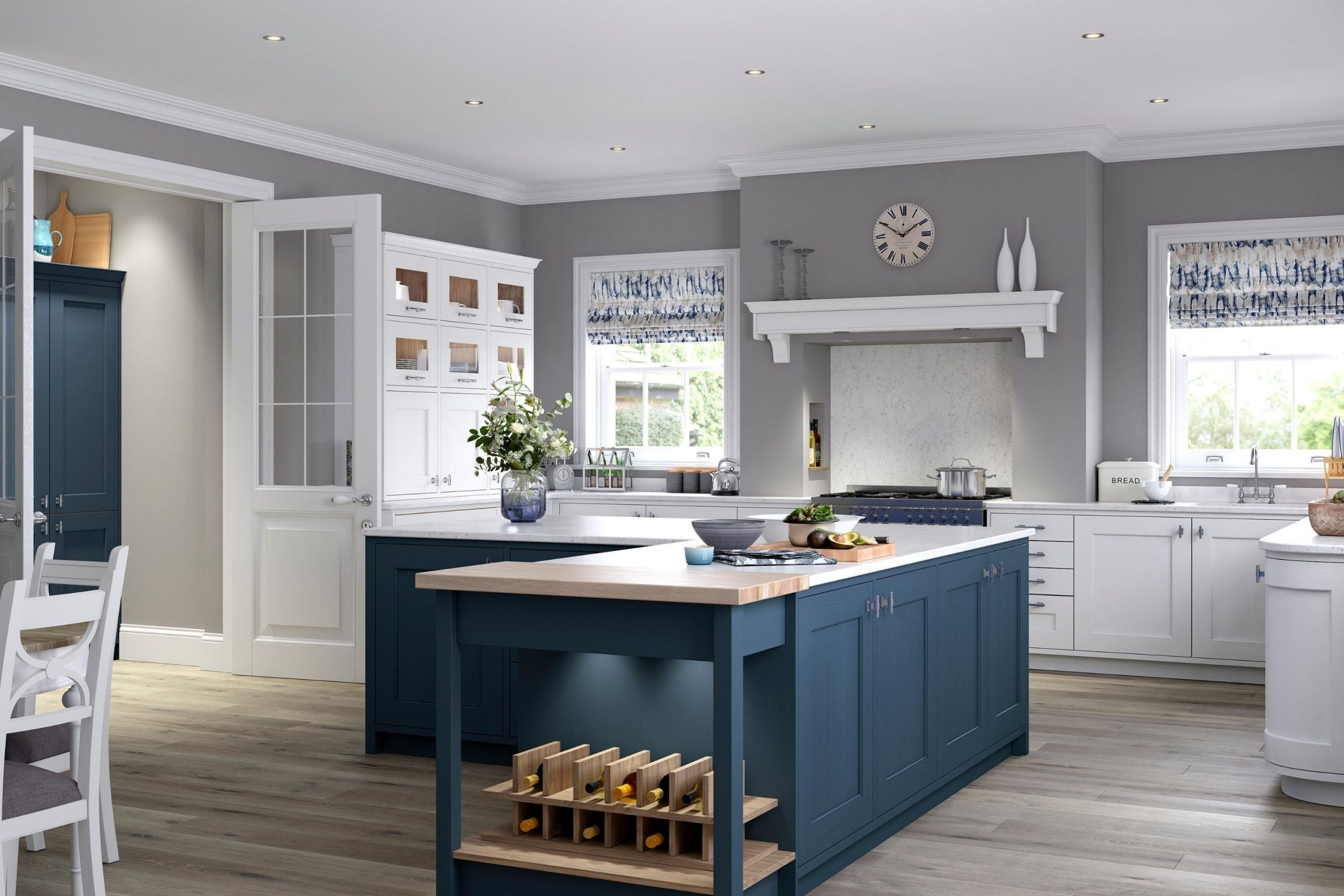 Dark Blue Classic Kitchen