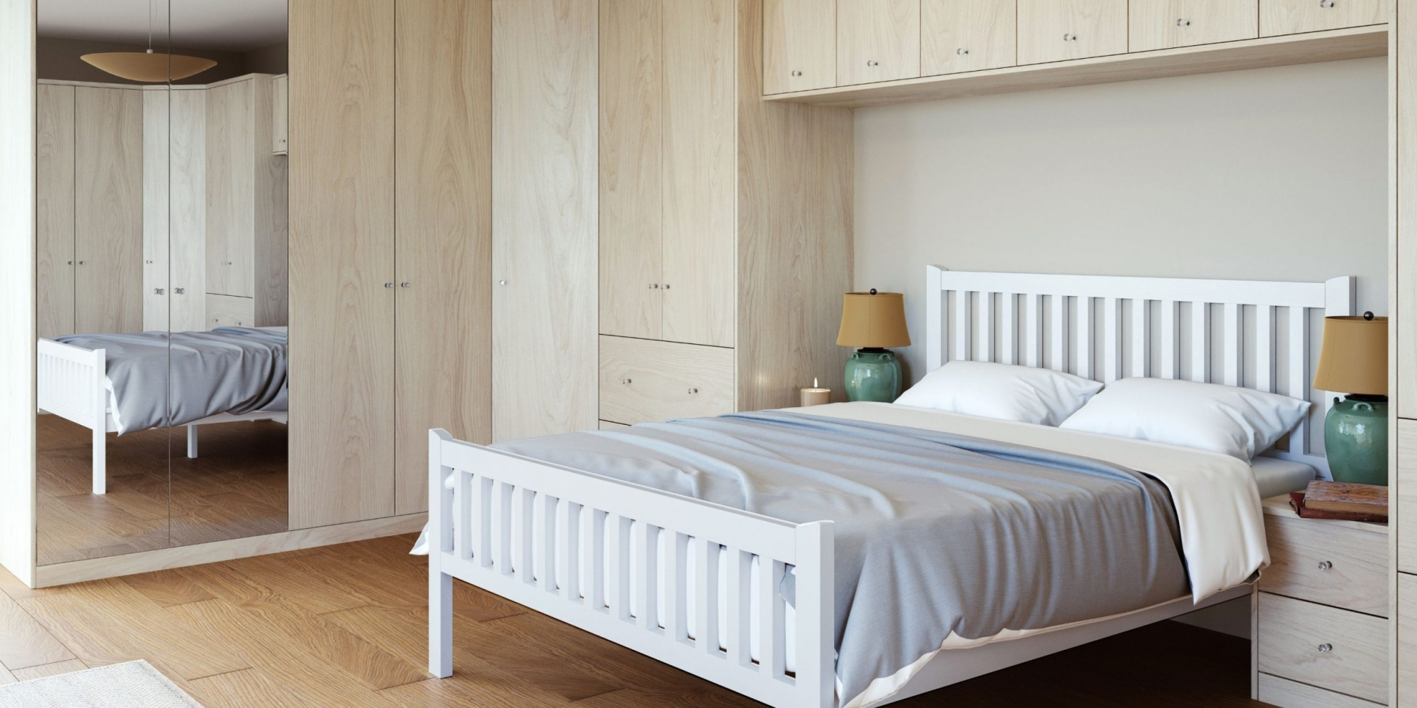 Light Traditional Bedroom With Wooden Finish