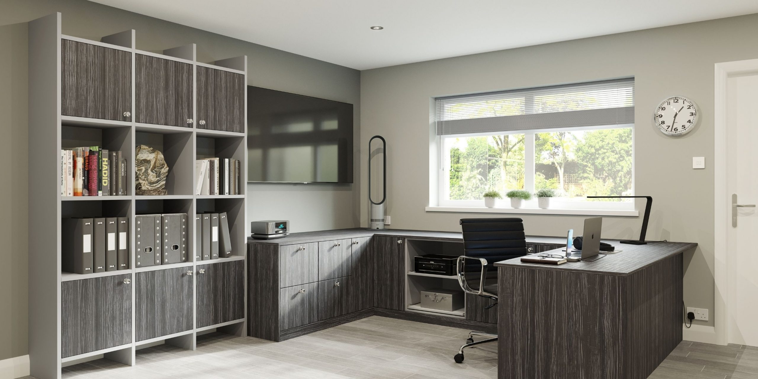Graphite Wood Finish Bedroom
