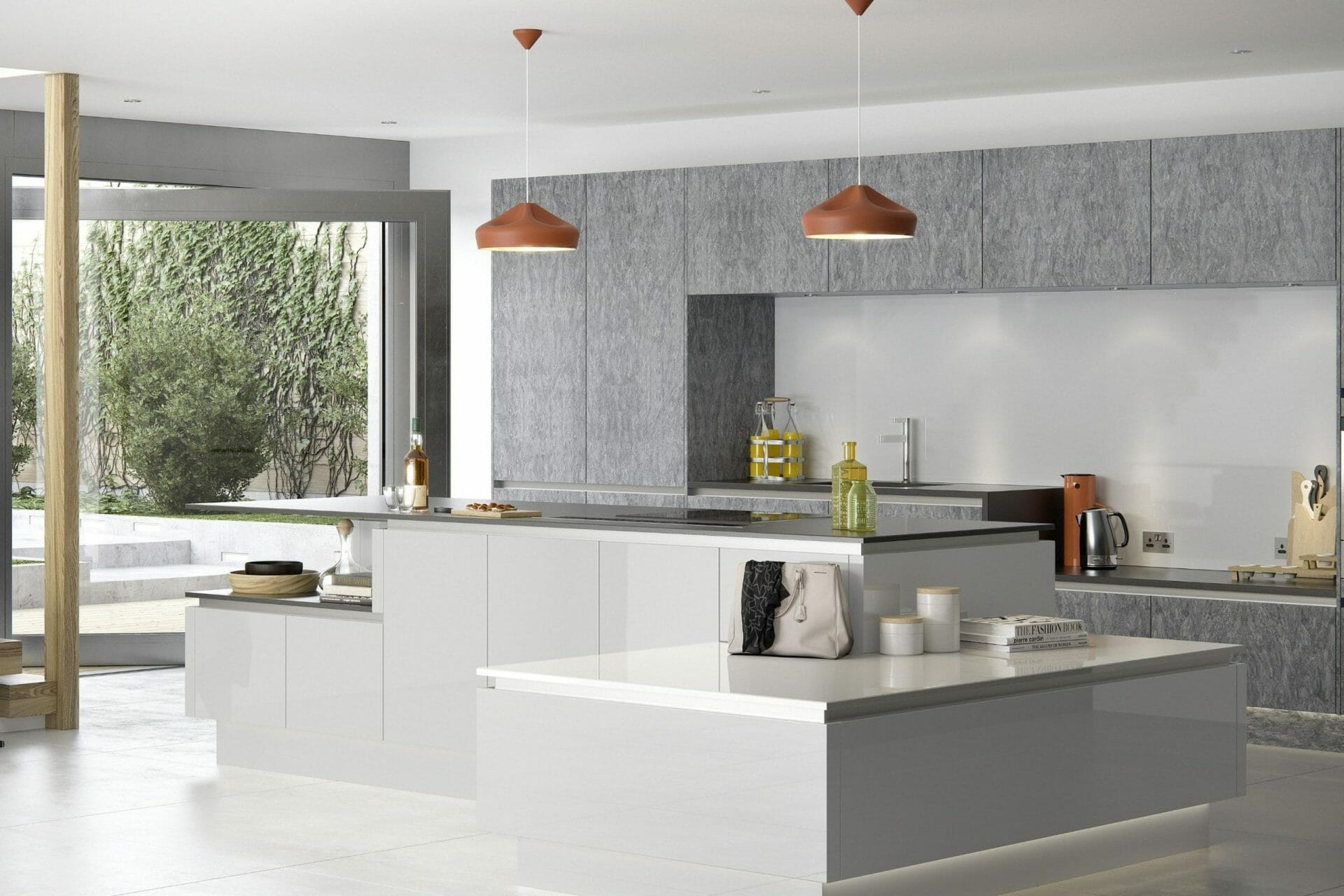 Gloss Handleless Kitchen White Devon