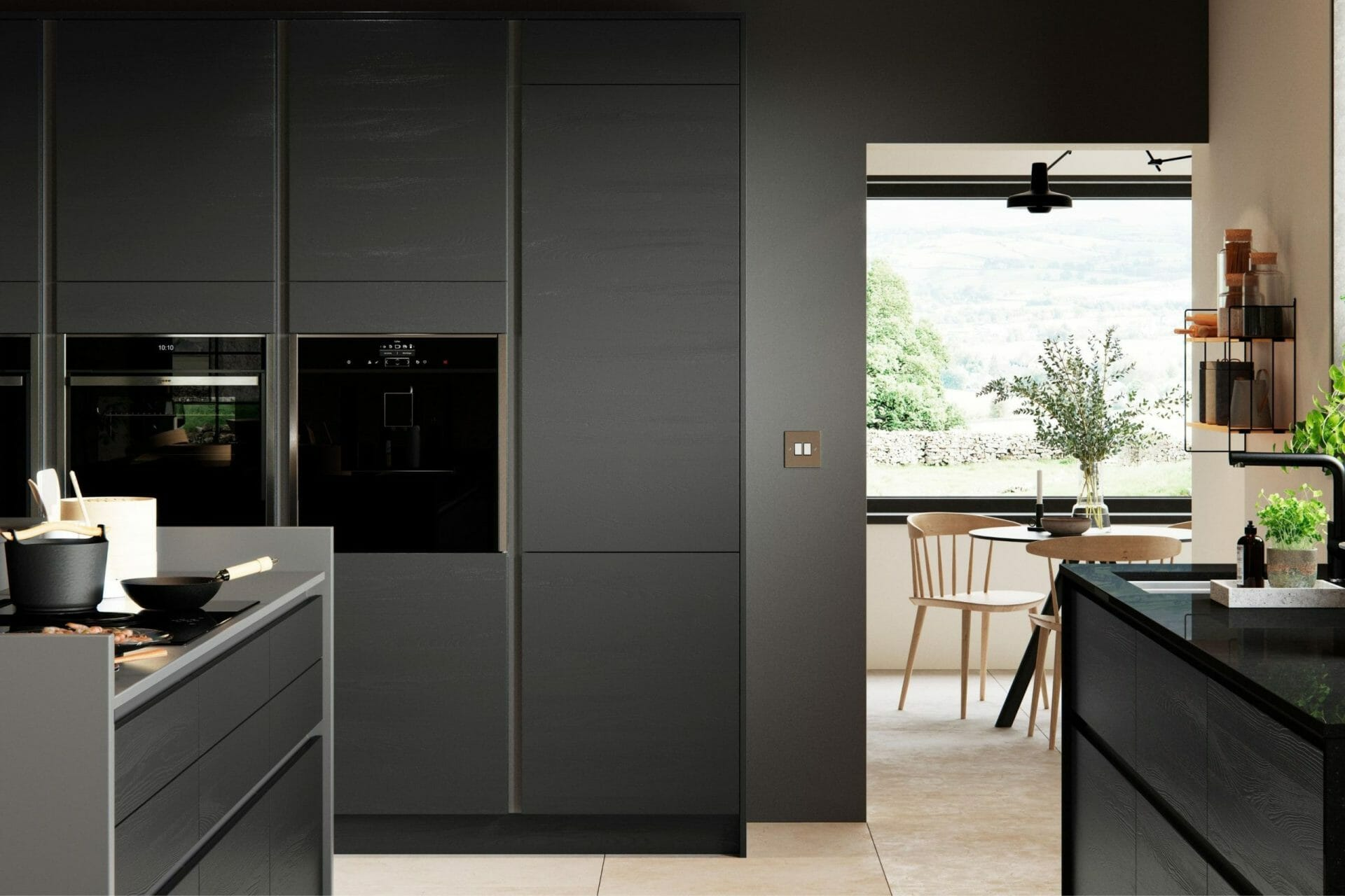 Graphite Handleless Kitchen Devon