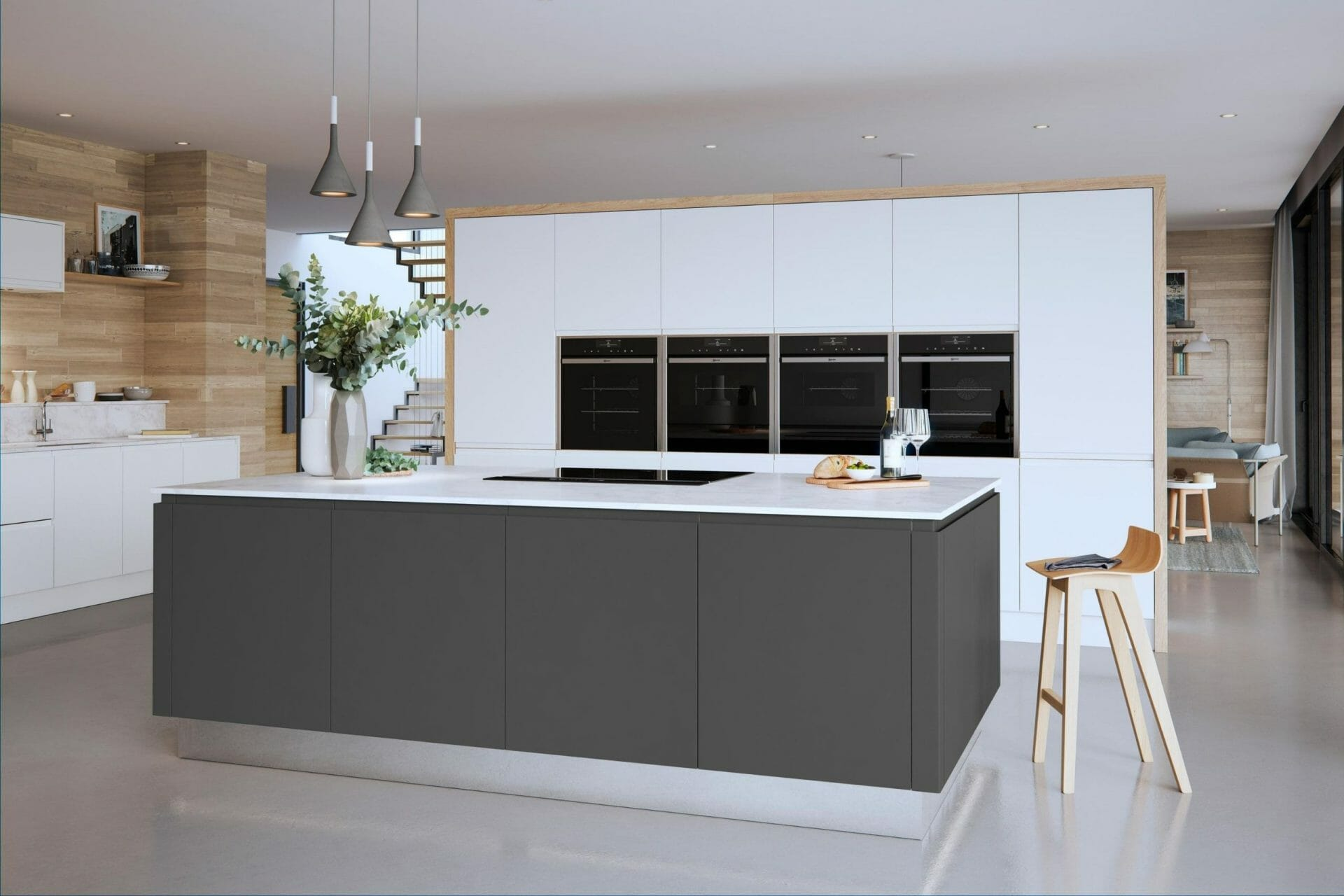 Graphite Handleless Kitchen