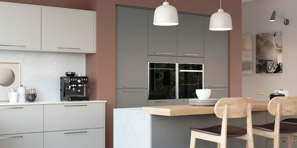 Modern Matt Grey Kitchen