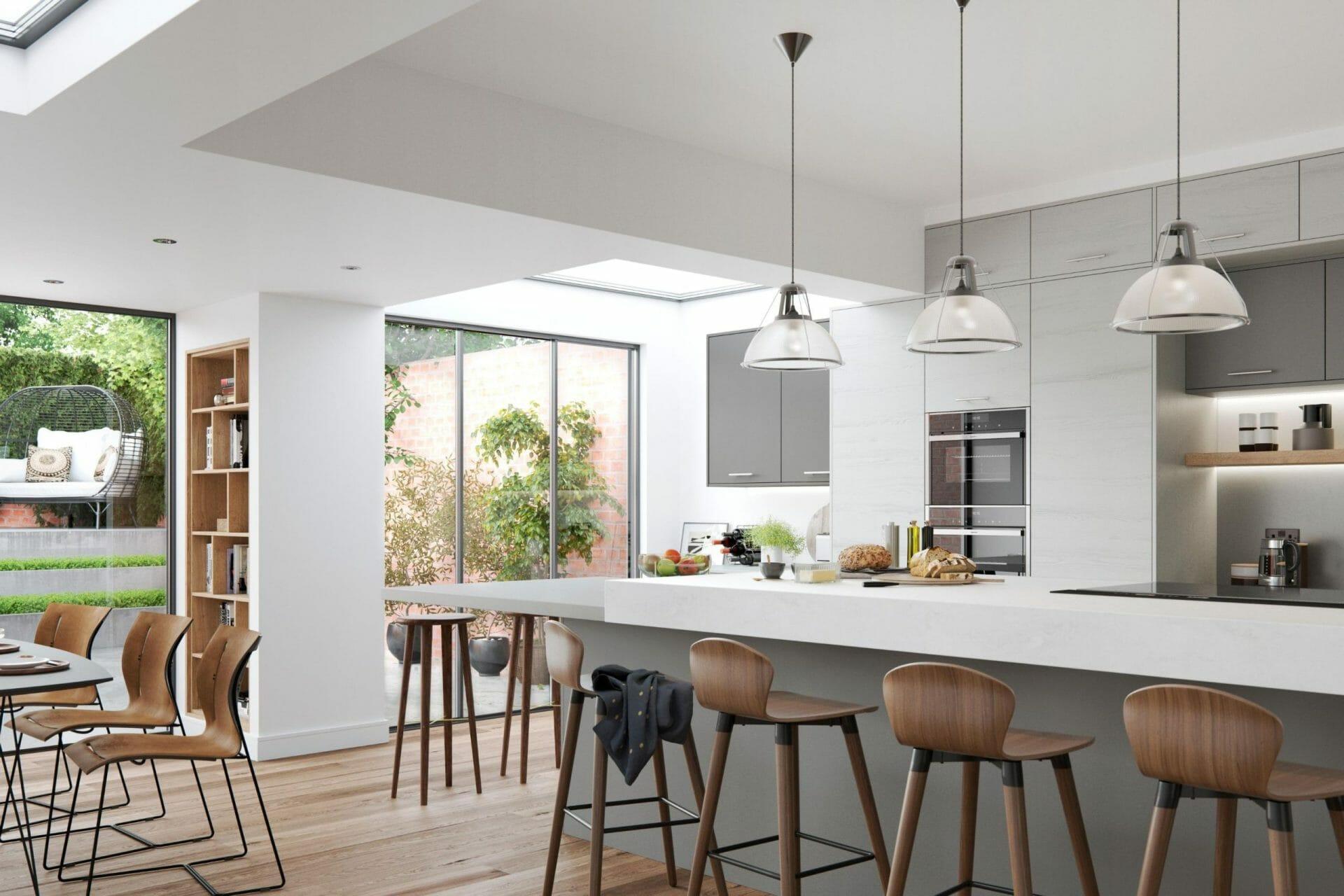 Modern kitchen devon grey