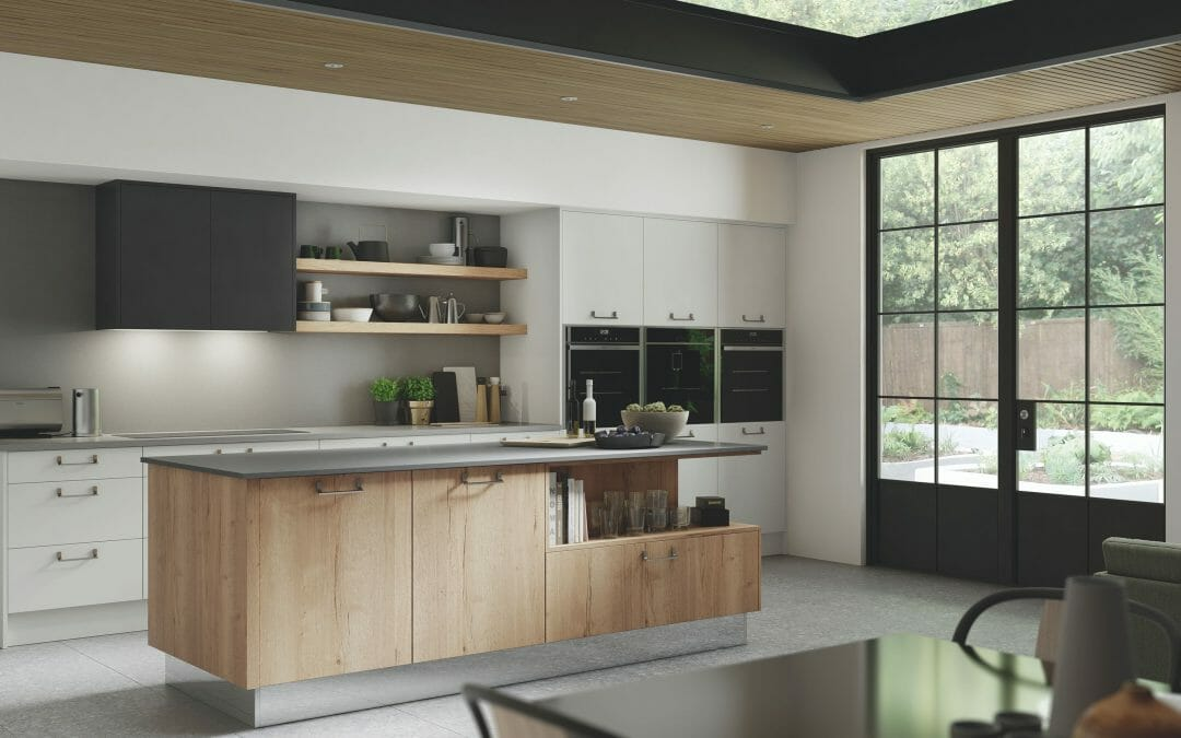 Modern kitchen in wood finish
